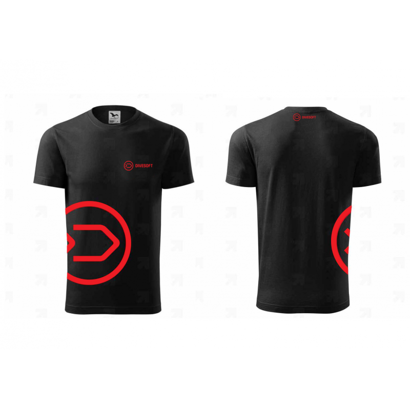 T-shirt DIVESOFT - Black