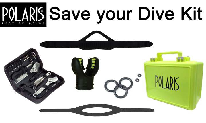 Save Your Dive  Kit im schwarzen Koffer
