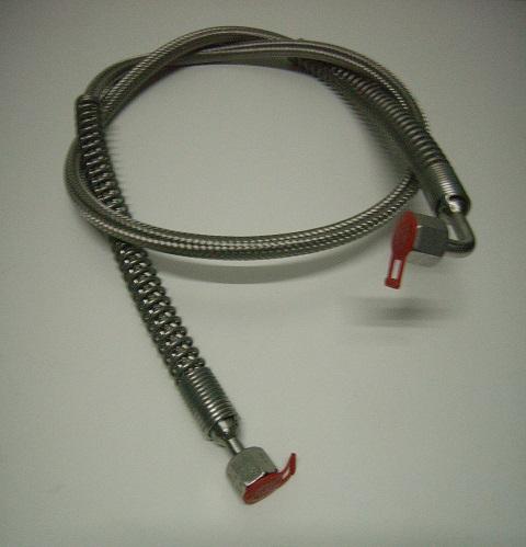 Edelstahlringwellschlauch-8S, einseitig mit 90° Bogen,andere Seite gerader Anschluss