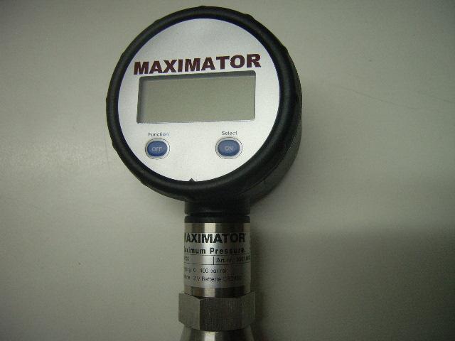 Sauerstoff-Manometer 0-400 bar Digital