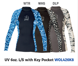 Ocean Ramsey Langarm Shirt in verschiedenen Designs und Größen