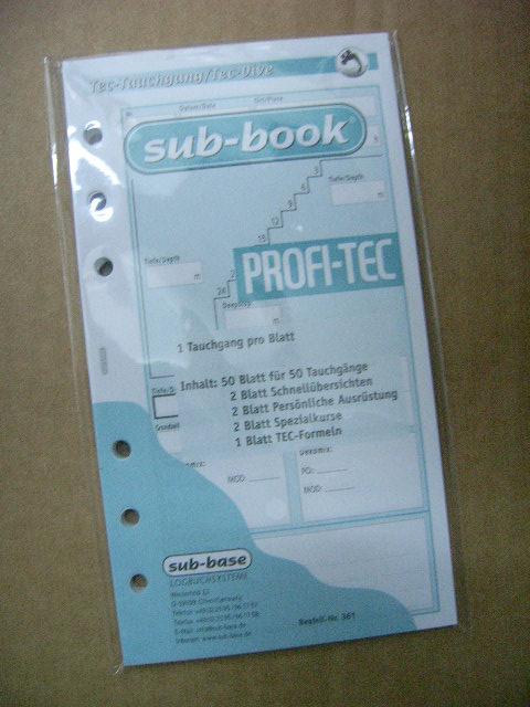 Sub Base Logbuch Einlagen TEK-Professional, 1 TG/Blatt