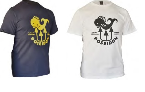 Poseidon T-Shirt Fish,verschiedene Ausführungen