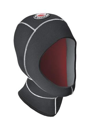 SANTI Kopfhaube Basic Hood, 7/9mm mit Wärmekragen