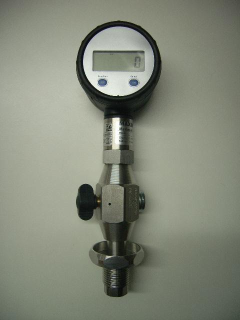 """Flaschendruckprüfmanometer Maximator digital, Luft 5/8"""""""