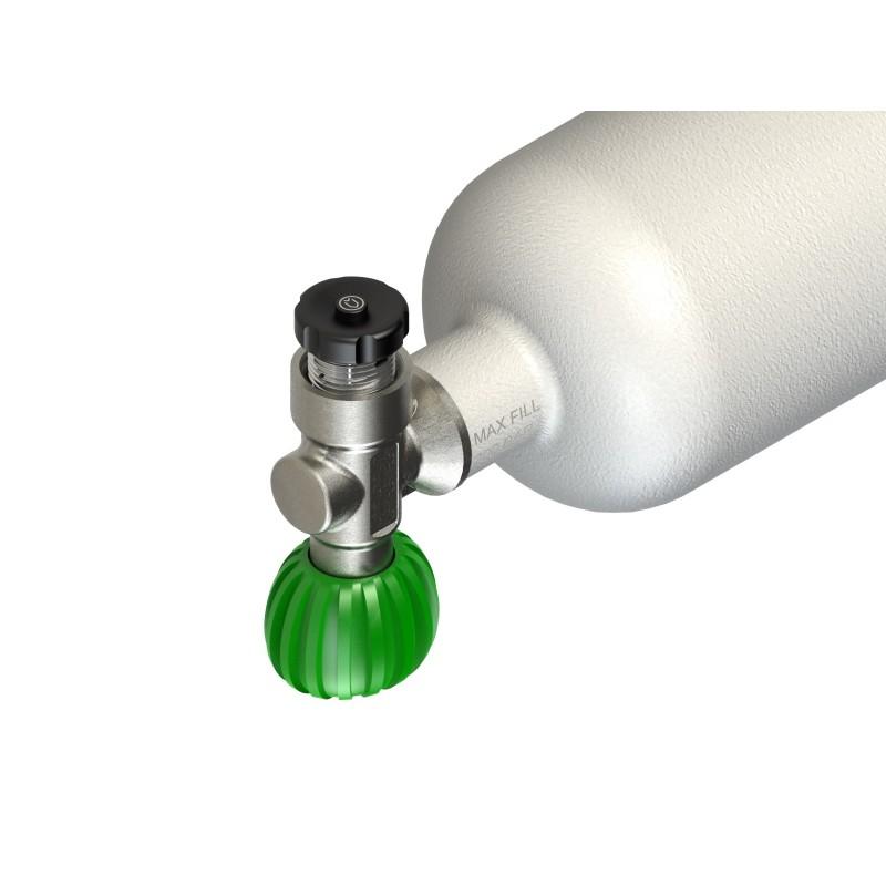 """Stopfen für Tauchflaschenventil bis 300 bar, G5/8"""" von Divesoft mit Entlüftungstaste"""