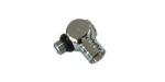 Adapter 90° für 1. Stufe MD-Abgang, drehbar, UNF 3/8, verchromt