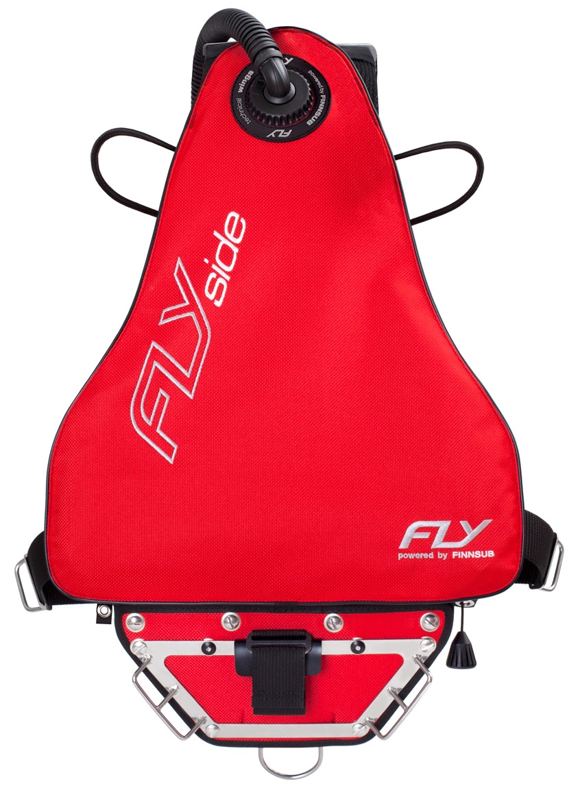 Finnsub FLY SIDE Red complete set mit 6 mm VA Backplate